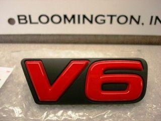 Toyota Rav4 Red V6 Grille Emblem Genuine OEM OE