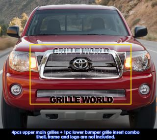 05 10 Toyota Tacoma TRD Sport Black Billet Grille Grill Combo Insert