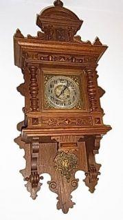 Antique German OAK CASE Lenzkirch Mechanical Wall Clock Regulator