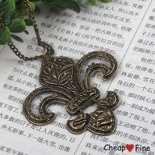 1PCS Vintage Jewelry Antiqued brass anchor long necklace gift