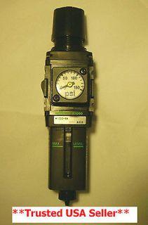 Air Regulator / Filter 1/4 inch With Gauge Air Compressor Water Trap