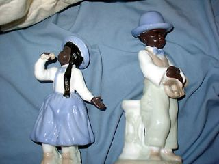 MUSICAL FIGURINES JAZZ SALOON COLLECTIBLES AFRICAN AMERICAN BLACK