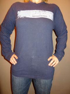 Rare John Mayer Winter 2007 Long Sleeve Navy Tour Concert Shirt Size