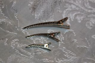 metal hair clips in Clothing,