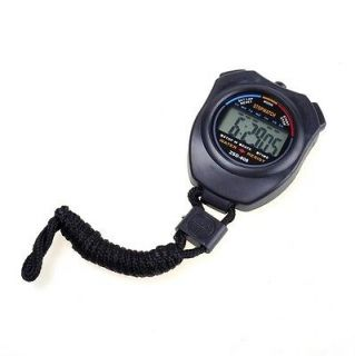 Digital Stopwatch Timer Alarm Stop Watch 1st Class Black
