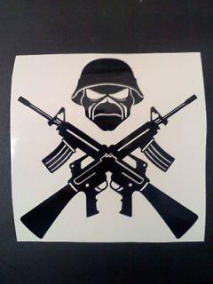 Maiden vinyl sticker decal choose size and color Machine Guns Eddie