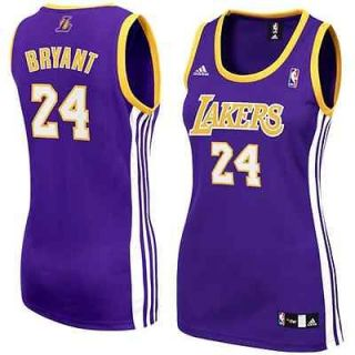 adidas Kobe Bryant Los Angeles Lakers Womens Fashion Jersey Purple