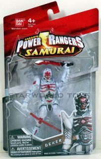 POWER RANGERS SAMURAI 4 DEKER Figure #31514 VILLIAN MIGHTY MORPHIN