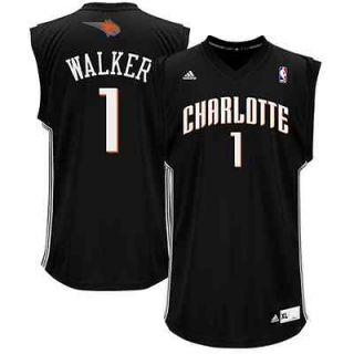 adidas Kemba Walker Charlotte Bobcats Chase Replica Jersey   Black