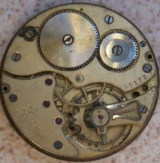 Junghans Pocket watch movement & Dial 43 mm. Chronometer to restore