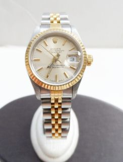 Rolex Oyster Perpetual Date Just 79173 18k/SS Ladies Watch