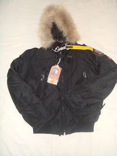 PARAJUMPERS GOBI DOWN JACKET BOMBER MURMANSKY FUR SAND TAN MENS L