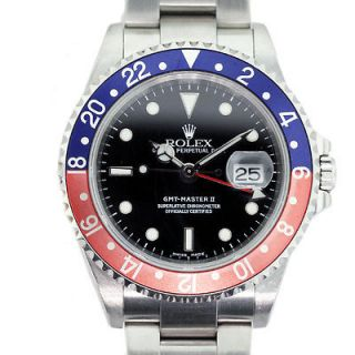 Rolex GMT Master II 16710 Blue/Red (Pepsi) Bezel Mens Watch