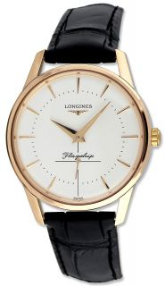 Longines Flagship Automatic 18k Solid Rose Gold Mens Watch L4.746.8.72