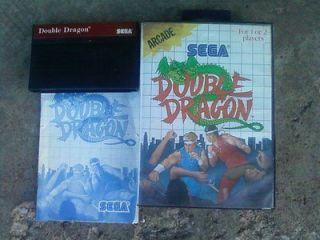 Double Dragon Arcade Game (Sega Master System1988) Complete w/box