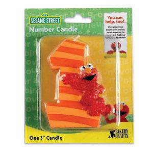 ELMO First 1st #1 Sesame Street Birthday Party Cake Topper Decor