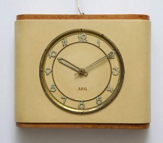 1932 AEG Germany wall desk clock   Art Deco   no Junghans Kienzle