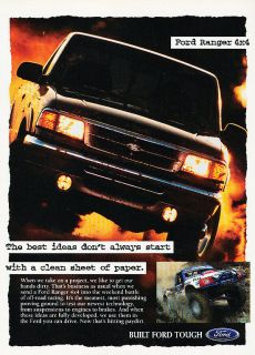 1995 Ford Ranger 4x4 Truck   Classic Vintage Advertisement Ad PE101