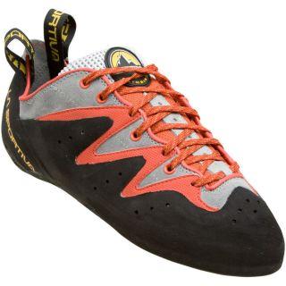 New La Sportiva Scorpion Rock Climbing Shoes Orange/Grey Size 34.5