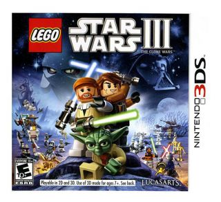 LEGO Star Wars III The Clone Wars Nintendo 3DS Game, 2011
