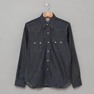 Levis Lvc Vintage Clothing 1955 Sawtooth Denim Shirt Rough