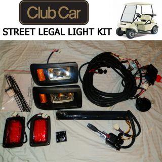 Club Car DS Golf Cart DELUXE Street Legal Light Kit