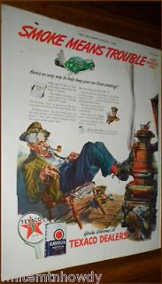 1942 TEXACO AD~Antique Pot Bellied Coal burning Stove