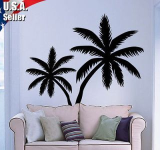Wall Decor Art Vinyl Removable Mural Decal Sticker Large Palm Tree Set