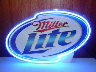 New Miller Lite Beer Neon Light Sign Display Gift Pub Home Beer Bar