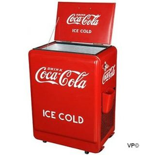 NEW Retro 1930s Style Coca Cola Refrigerator Fridge Coke Machine Ice