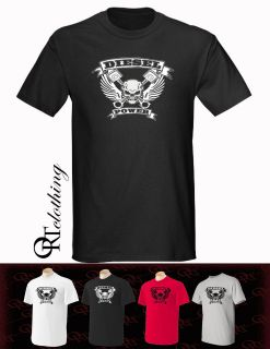 Diesel Power Skull , white, black, red, grey, Diesel Trucks, dodge