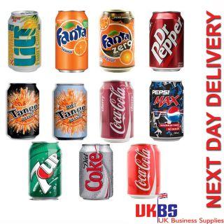 Lilt Fanta Dr Pepper Cherry Coke Pepsi Max Diet Coke Coca Cola Cans 2