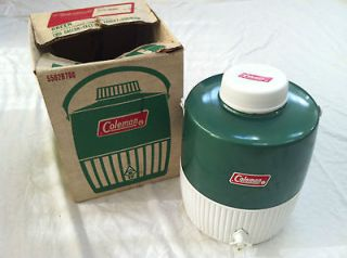 VINTAGE COLEMAN SNOW LITE WATER JUG COOLER GREEN BOX