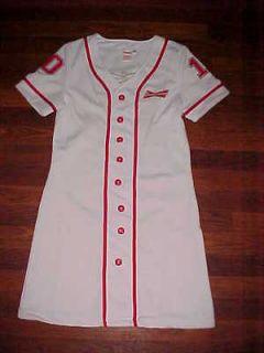Budweiser Anheuser Busch Red White Womens #10 Jersey Dress L Free