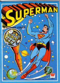 SUPERMAN WHITMAN COLOR BOOK, COLORING BOOK, 1979, UNUSED, VERY RARE