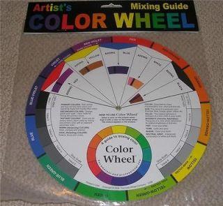 Large Artist COLOR WHEEL scrapbooking paint mixing colors combinations