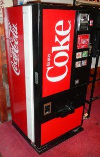 Dixie Narco Coke Vintage Soda vending Machine 57 high 28 1/2 wide