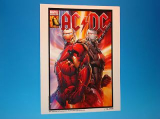 IRON MAN Marvel Comics AC/DC Heavy Metal LITHOGRAPH Proof Limited Ed