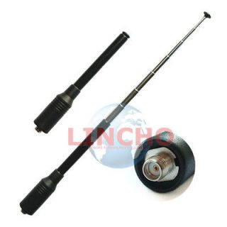 773 Dual Band 144/430Mhz UV SMA K Telescopic Antenna For two way radio