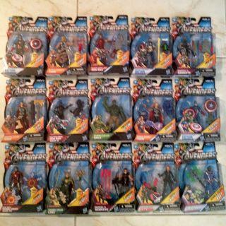 Marvel Legends Avengers Complete Set 15 Pc Hulk Hawkeye Black Widow