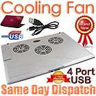 USB 2.0 Cooler Cooling Pad 3 Fan LED For Sony VAIO HP Laptop Netbook