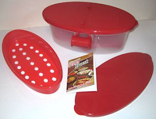 MICROWAVE PASTA BOAT AS SEEN ON TV DELUXE SET STEAMER COOKER BOXED SET