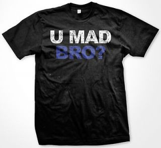 Mad Bro Brother Gangster Respect Fight Tugs Funny Cool T shirt Tee