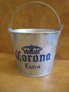 Corona Cerveza Beer Bucket Galvanized Metal Ice Bottle Holder Brewania
