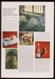 1968 Remy Martin VSOP cognac casks in storage photo ad