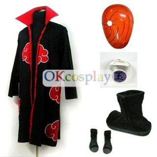 Uchiha Madara Cosplay Costume Robe Mask Shoes Ring Whole Set