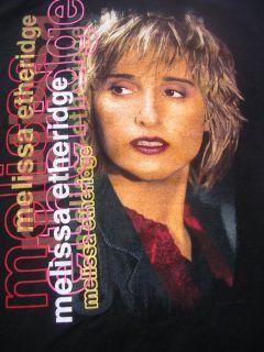 1999 MELISSA ETHERIDGE KANSAS FOLK COUNTRY POP ROCK BAND TOUR SHIRT XL