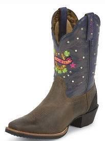 NIB Womens Tony Lama ST1002 Marne Lucky Stars Western Cowboy Boots