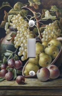 Light Switch Plate Switchplate Cover GRAPES ON VINE WITH PEARS