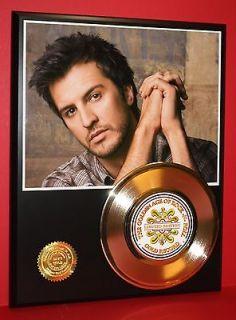 Luke Bryan 24k Gold Record Country Music Gift ACM & CMT Award Winner